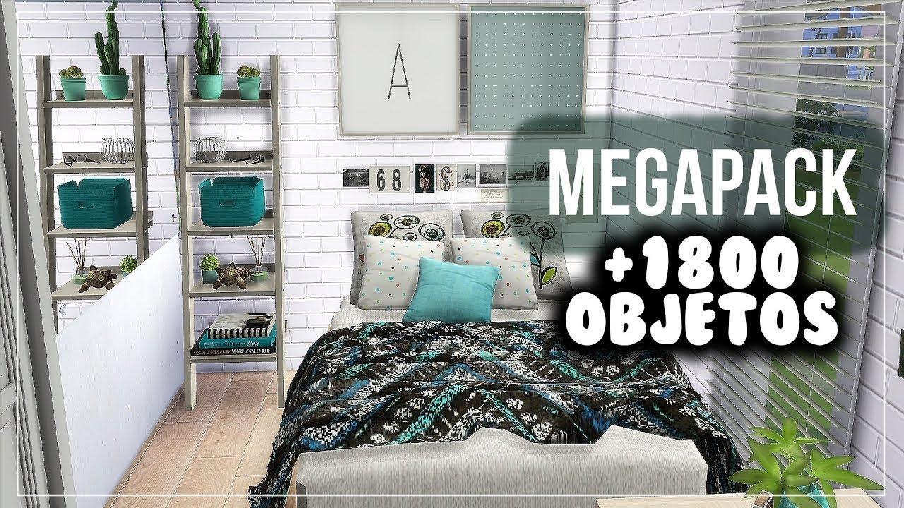 Megapack Habitaciones casi 2000 objetos  Los Sims 4