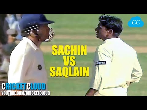 SACHIN vs SAQLAIN - Watch the Best Shots of Tendulkar & Magical Delivery by Mushtaq !!