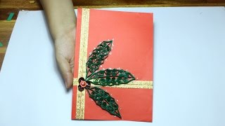 [Paper Quilling Card] Paper Quilling Christmas Card tutorial #1