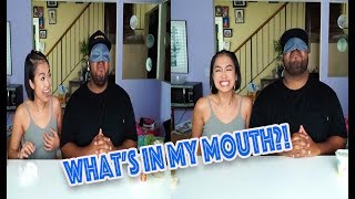 Tiny Asian Girl vs Big Black Guy | What's in my Mouth Challenge
