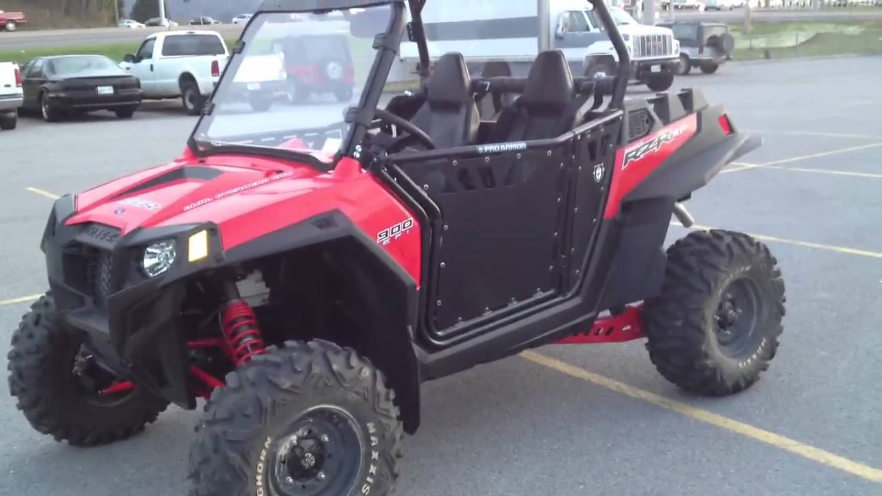 2012 Polaris Ranger RZR XP 900 Indy Red with Pro Armor Doors Top Windshield and Modified Exhaust - YouTube & 2012 Polaris Ranger RZR XP 900 Indy Red with Pro Armor Doors Top ...