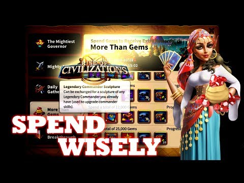 Rise of Civilizations: Where to Use Your Gems!   More Than Gems Event!