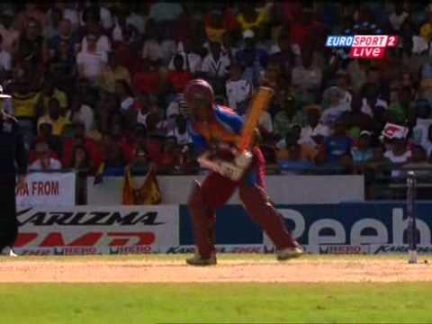 chanderpaul great six ICC world twenty20 v sri lanka - YouTube