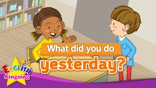 Download lagu [Past tense] What did you do yesterday? - Exciting song - Sing along