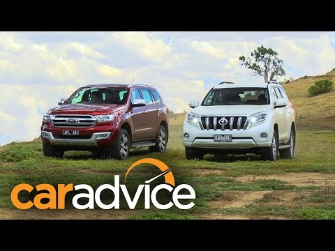 2016 Ford Everest/Endeavour Titanium v Toyota Prado VX off road comparison review