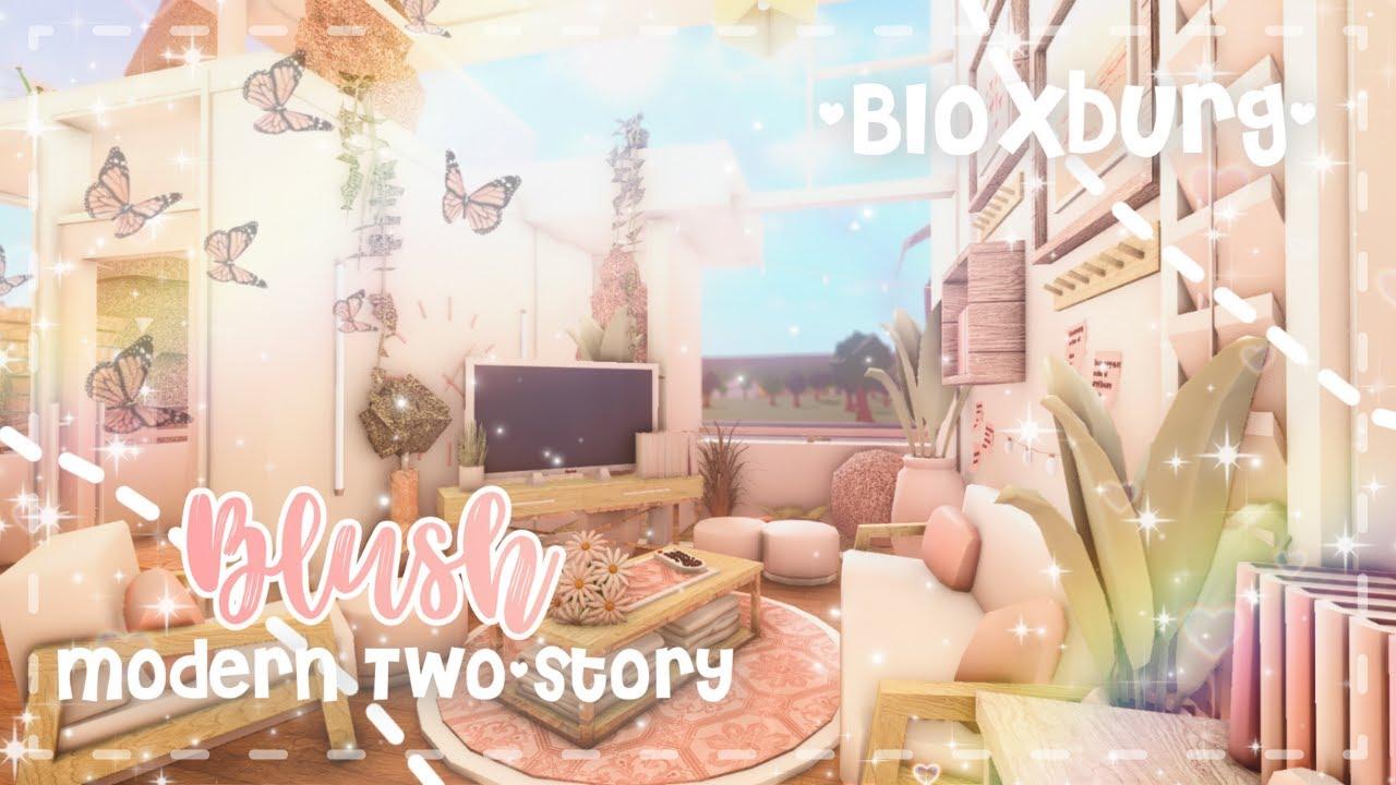 Roblox Bloxburg - Two-Story Blush Modern House - Minami Oroi