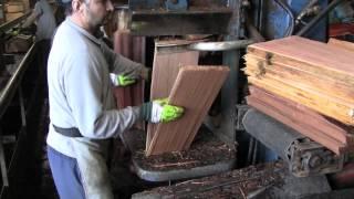 Producing Red Cedar Hand-Split & Resawn Shakes - by WoodRoof.com
