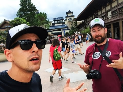 Now we're in Japan!? Adam the Woo & Justin Scarred at EPCOT world showcase!