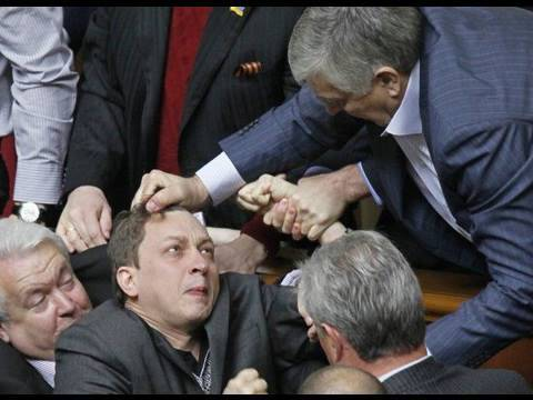 Ukrainian Parliament Fight