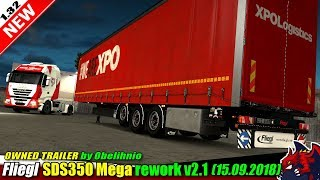 "[""Euro Truck Simulator 2"", ""owned trailer mod"", ""Fliegl SDS350 Mega Rework v2.1"", ""by Obelihnio""]"