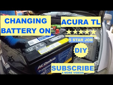 How to replace battery on  Acura TL