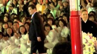 2014年5月11日 東京宝塚劇場花組千秋楽、月央和沙さんの出待ちです。