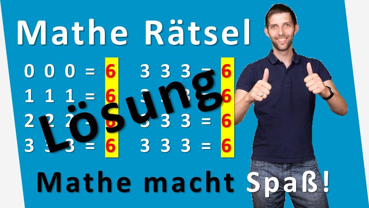 Lösung Matherätsel: Alle Gleichungen sollen 6 ergeben - coole Mathetricks | Mathematik
