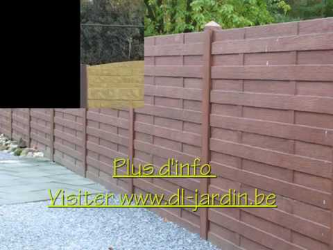 Pose de cl ture en b ton par dl jardin youtube - Cloture en beton ...