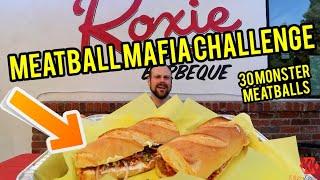 Meatball Mafia Challenge | ManVFood | Roxies Deli