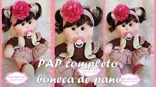 Passo a passo boneca de pano Juju – fazendo sua boneca de pano – linda boneca de pano