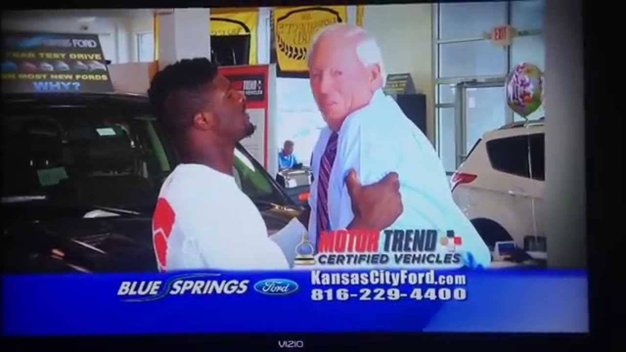 Chiefs Dee Ford in blue springs ford mercial