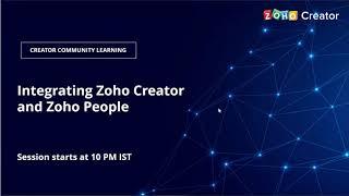 Integrating Zoho Creator and Zoho People    Zoho Creator