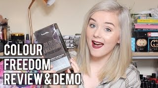 Review & Demo - Colour Freedom Metallic Glory Silver Blonde