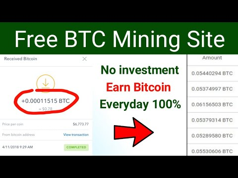 Free Bitcoin Mining Website 2020 | BTC Mining site | Earn Money skills