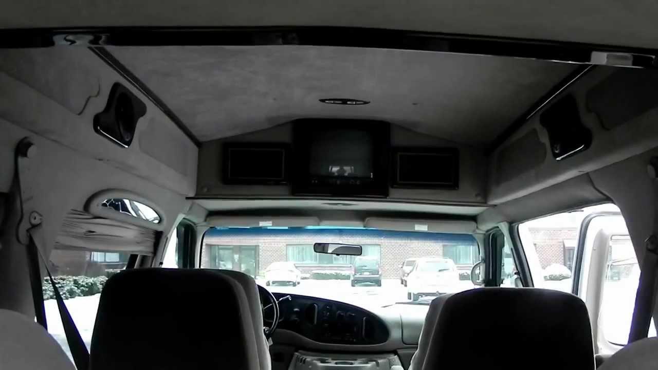 2002 Ford E150 Conversion Van Triton 4 6l V8 Gas Quad Seats Cloth Tv 7 Passenger