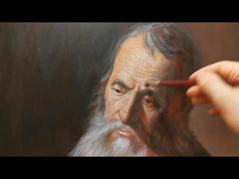 Old Man Portrait Painting in Oils