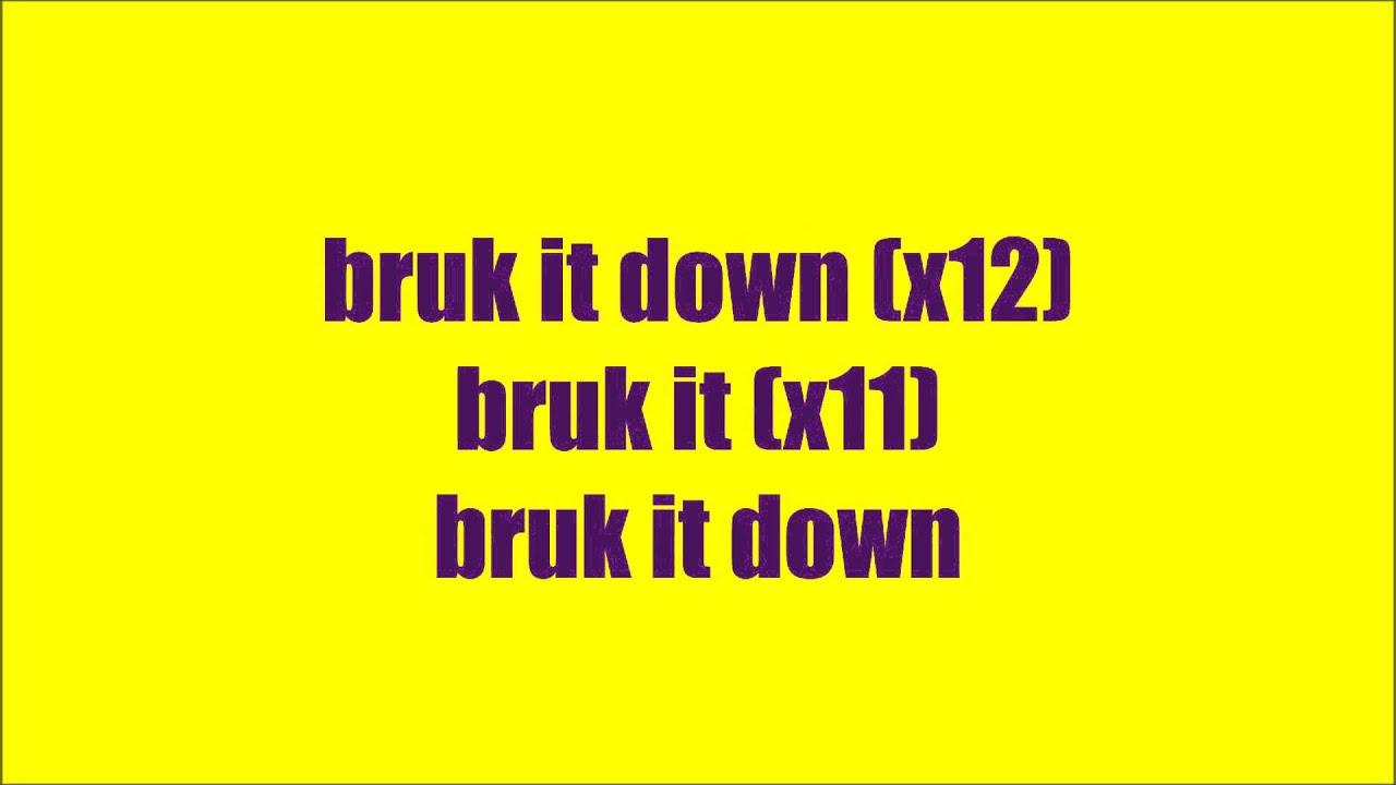 descargar bruk it down-mr vegas lyrics rap