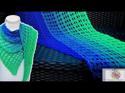 Einfaches Tuch Häkeln Fensterblick видео с Youtube на