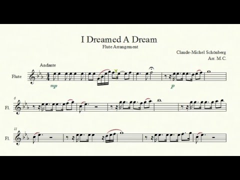 Les Misérables- I Dreamed A Dream [Flute Arrangement]