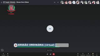 SESSÃO ORDINÁRIA (virtual) - 23/11/2020