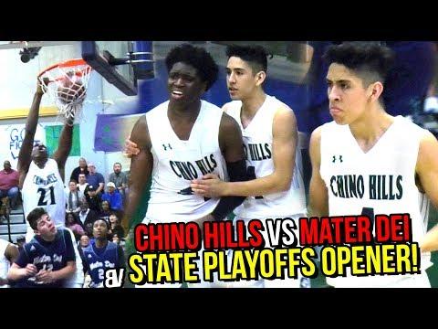 Chino Hills VS Mater Dei Catholic STATE PLAYOFFS OPENER: Will Pluma, Andre Ball & Big O DOMINATE!