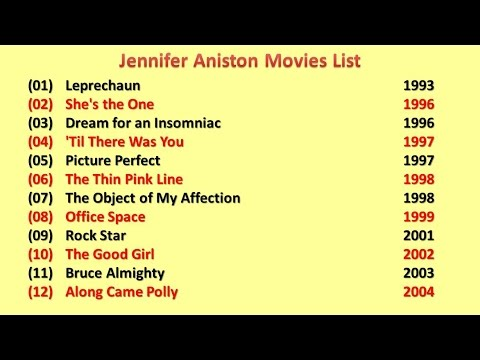 Jennifer Aniston Movies List