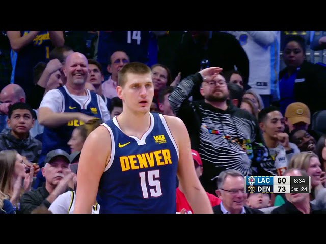 Nikola Jokic Throws An Unbelievable One-Handed Full Court Dime Like NFL QB