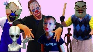 Лучшие серии Страшилки Hello Neighbor  GRANNY Привет Сосед МОРОЖЕНЩИК от ЛОВИ ЛАЙКИ
