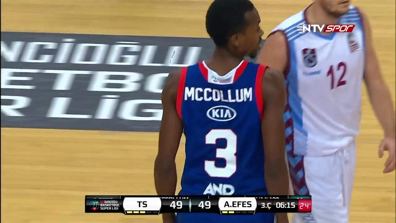 Basketbol Süper Ligi 5. Hafta: Trabzonspor - Anadolu Efes
