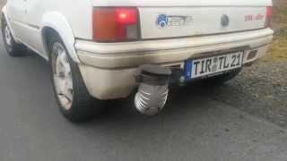 Peugeot mit riesen Auspuff