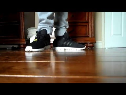 Adidas ZX Flux Black/White on foot