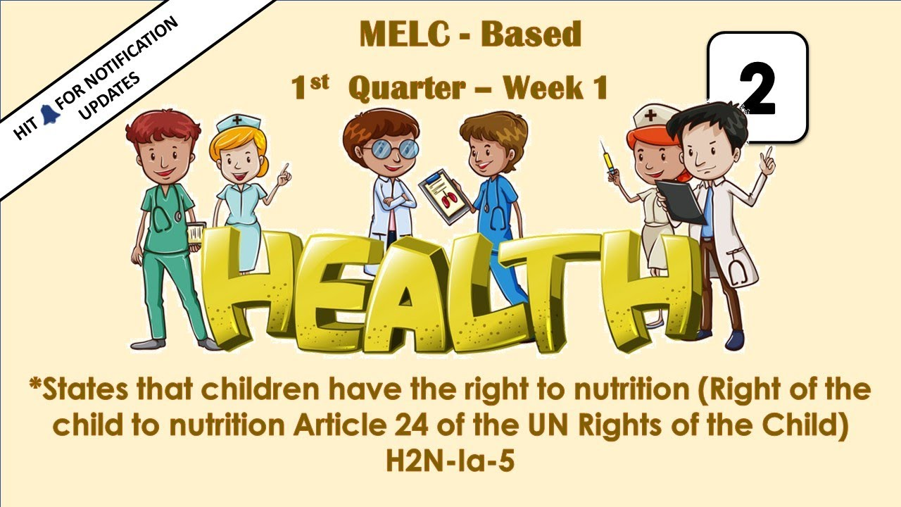 medium resolution of Quarter 1 Lesson 1 Health 2 State that children have the right to nutrition  - YouTube
