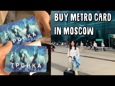 Moscow airport to city CHEAPLY - Buying Troika card and mobile sim card