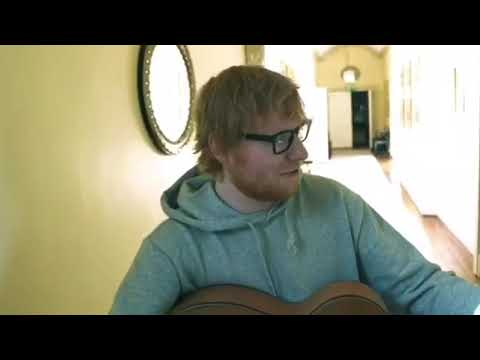 """Ed Sheeran playing """"what if this all the love you ever get?"""" from  snowpatrol's album ( Wildness )"""