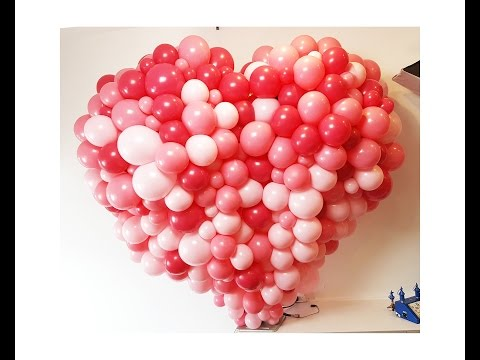 Mesmerizing balloon heart sculpture in organic texture