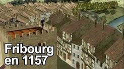 La ville de Fribourg en 1157 (animation 3D)