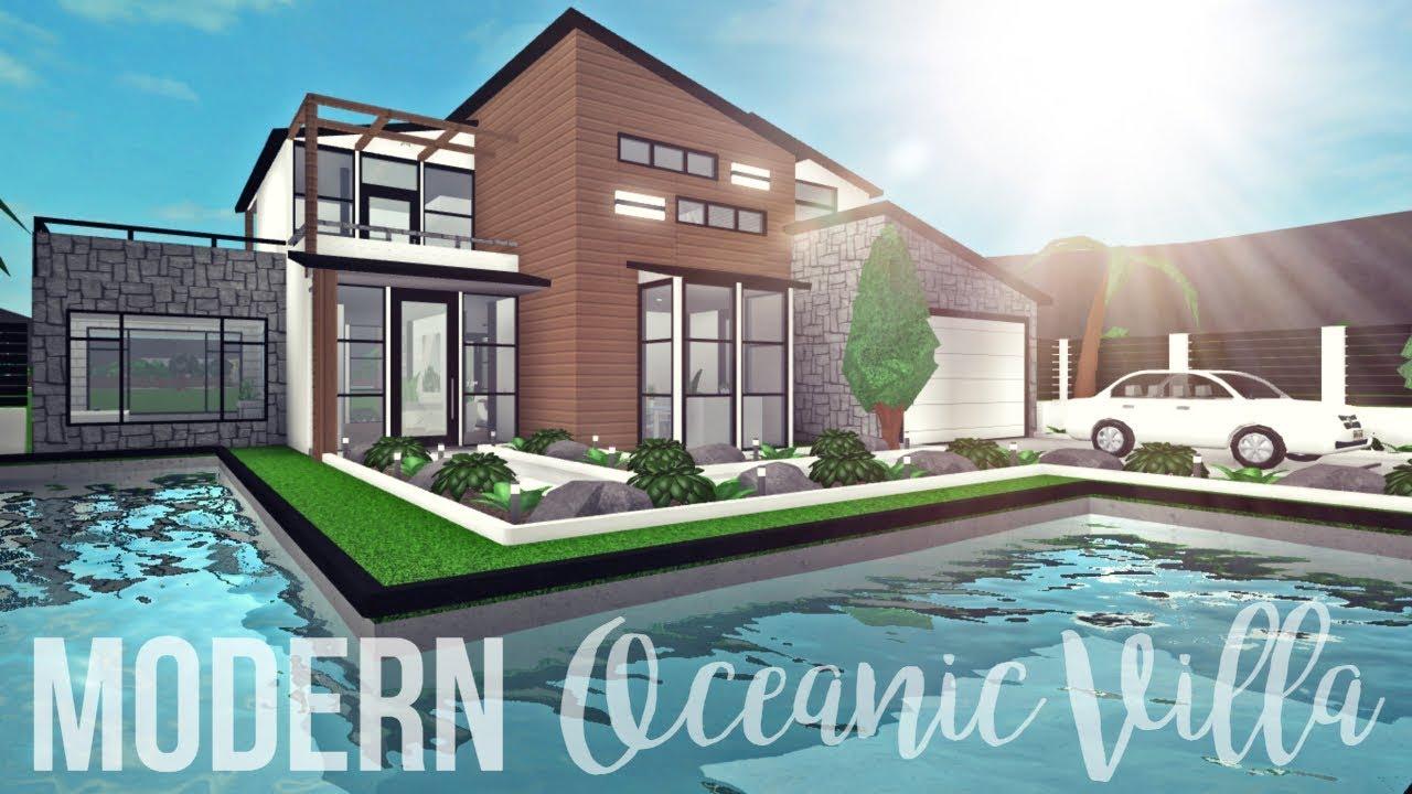 Bloxburg Modern Oceanic Villa 109k Youtube