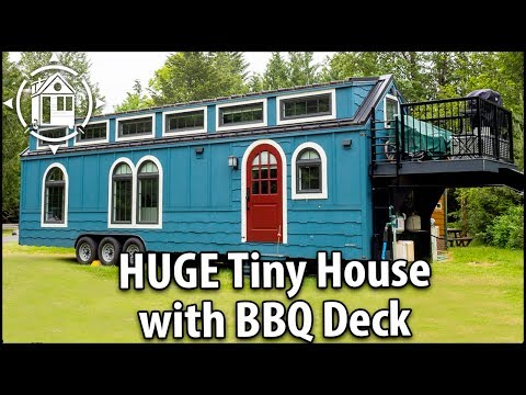 Big Fancy TINY HOUSE with BBQ Deck. Better Than An RV!