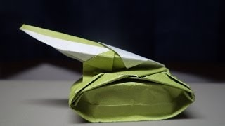 How to Fold an Origami Tank