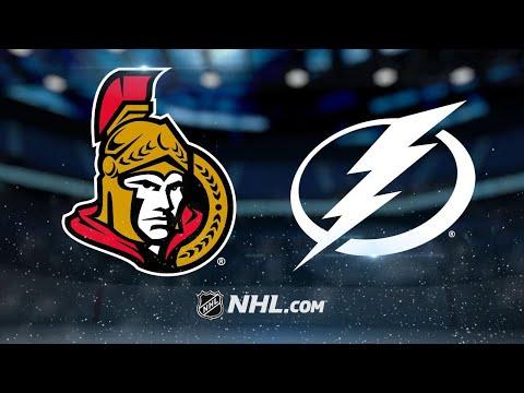 Hoffman, Condon strong as Senators top Lightning, 7-4