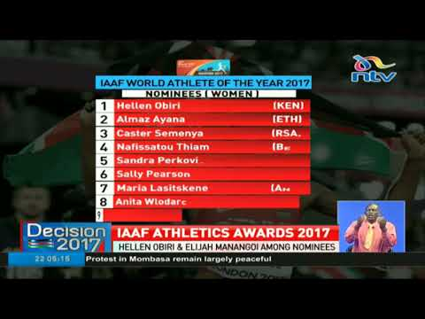 IAAF world athlete of the years nominees