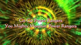 Go Go Power Rangers Lyrics HD Mighty Morphin Power Rangers YouTube