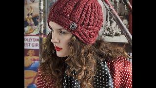 Шапочка-шлем из журнала Vogue Knitting. Часть 3