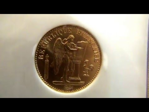 1875 France 20 Francs Angel MS64 NGC